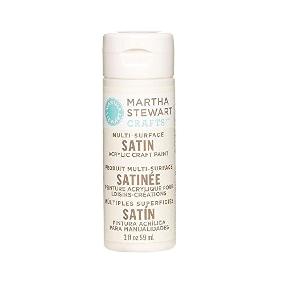 Martha Stewart Crafts Multi-Surface Satin Acrylic Craft Paint in Assorted Colors (2-Ounce), 32075 Summer Linen