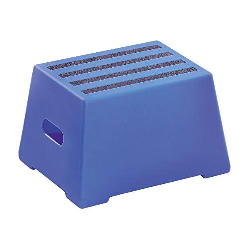 Kunststoff-Tritt mit rutschfesten Stufen - abwaschbar, geprüft nach EN 14183:2003E - 1 Stufe, ultramarinblau - Kunststoff-Tritt Kunststoff-Tritte Steighilfe Steighilfen Tritt Tritte