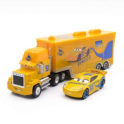 fashionmore Movie Cars McQueen Toys Cruz Ramirez Mack Hauler Truck & Racer Speed Racers Metal Toy Car 1:55 Loose Kid Toys