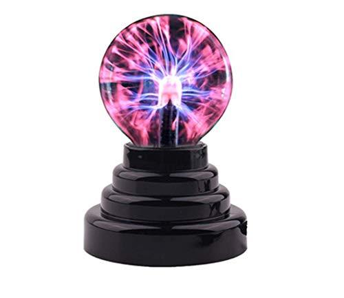 OMJNH Nachtlicht, 3-Zoll-USB-Magie Statischer Ionen-Ball Licht Blitz Kugel Nachtlicht Atmosphäre Licht