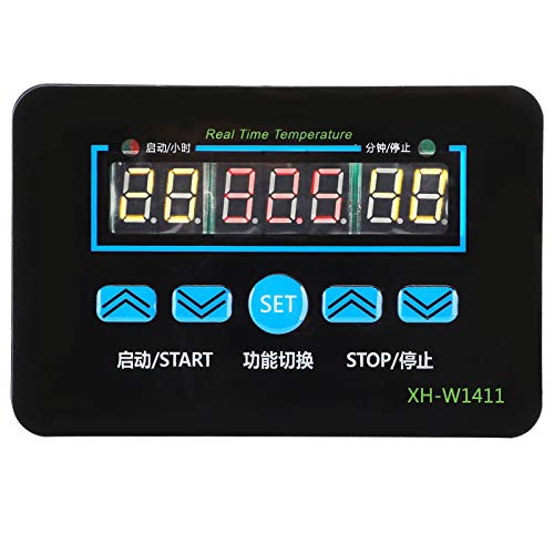 Socobeta Módulo de termostato ABS Sensor de temperatura 3 ventana controlador de temperatura módulo para sistemas de aire acondicionado (12V)