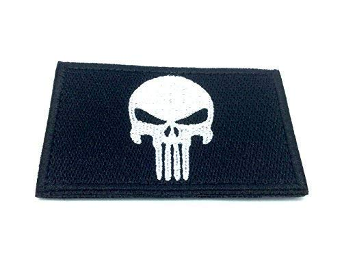 Punisher Negro Bordado Airsoft Patch