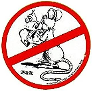 10 No Happy Rat Hardhat Stickers T-75