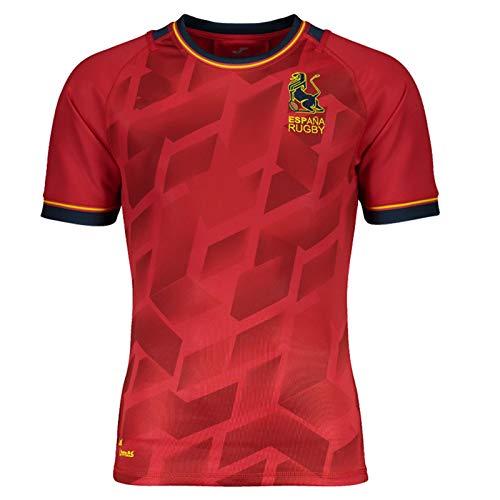 XJIANQI 2021 Británica España Inicio Rugby Jersey, Entrenamiento de Secado rápido de los Hombres Camiseta de Manga Corta Deporte Casual Polo fútbol Jersey L