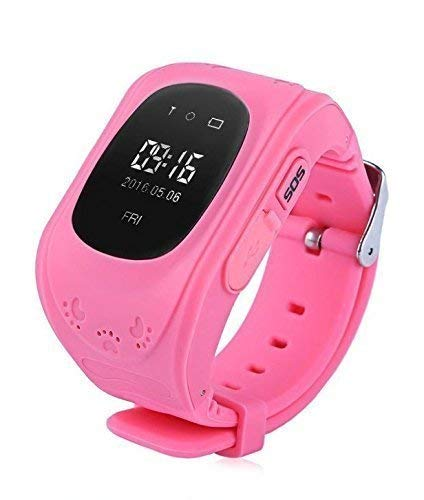 JANROCK Q50 Kid's Smartwatch with GPS Tracker and SIM Support System, Calling Function and for Android/iOS Smartphones (Pink)
