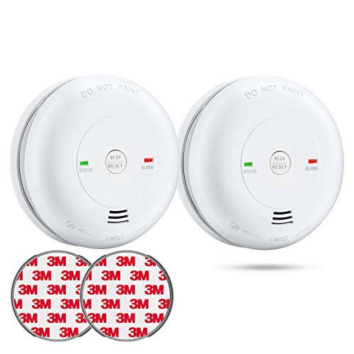 SITERLINK Carbon Monoxide Detector , Carbon Monoxide Alarm (Battery Include) with Silence Button and Low Battery Signal, 7-Year CO Detector with Electrochemical Sensor, UL Listed, GS811-A, 2 Packs