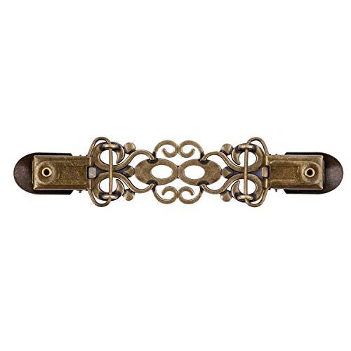 XingYue Direct 1 Stück Vintage Cardigan Clip, Hemd Kragen Schal Clip Sweater Bluse Ente Clip für Frauen Mädchen Tops Deko, Antique Bronze