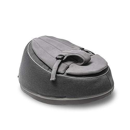 Seat\'n Swing Anthracite Verstelbare Zitzak – Bean Bag met Harnas – Steunstoeltje kan Getransformeerd Worden tot Schommel Stoel – Zacht en Comfortabel Nestje met Veiligheidsgordel - Doomoo