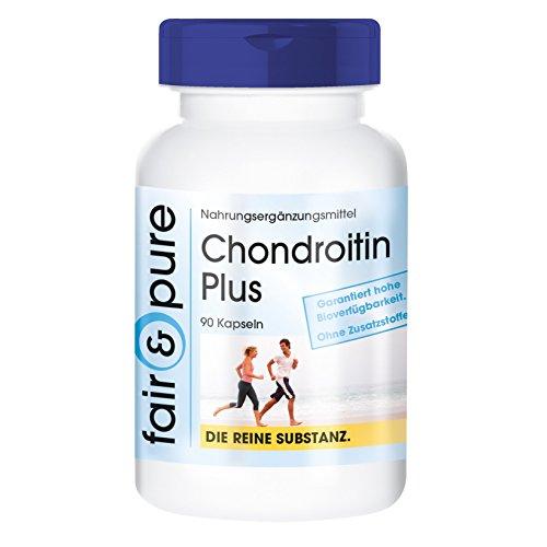Condroitina Plus con Acido Ialuronico - Calcio - Vitamina D ed E - senza stearato di magnesio - 90 Capsule di condroitina