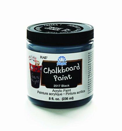 Black Folk Art Chalkboard Paint 8 Ounces 25-17 by Plaid