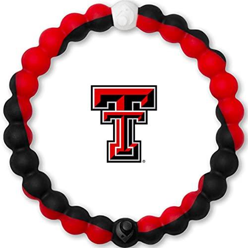 Lokai Texas Tech University TTU Red Raiders, SIlicone Bead Bracelet for Men and Women, Large, 7 Inch