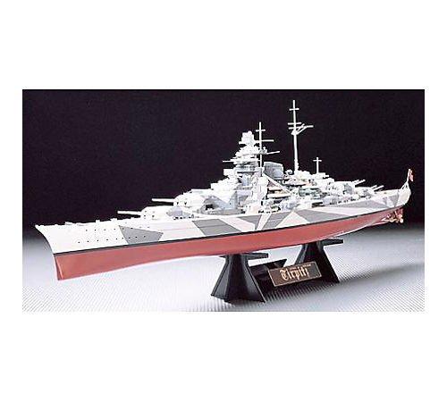 TAMIYA 78015 1:350 Deutsches Schlachtschiff Tirpitz, Modellbausatz,Plastikbausatz, Bausatz zum Zusammenbauen, detaillierte Nachbildung