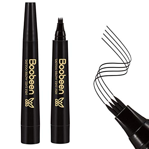 Boobeen Waterproof Eyebrow Tattoo Pen - Microblading Eyebrow Pencil with a Micro-Fork Tip Applicator - Creates Natural Looking Brows Effortless