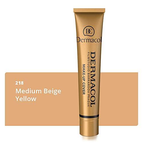 Dermacol DC Base Makeup Cover Total | Maquillaje Corrector Waterproof SPF 30 | Cubre Tatuajes, Cicatrices, Acné, Imperfecciones, Manchas en la Piel de la Cara y Cuerpo | 30g