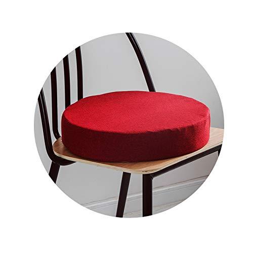 my cat Cojín redondo grueso 35D de alta densidad de esponja cojín de lino para sala de estar o...