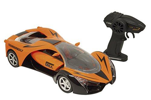 Carro de Controle Remoto Thunderbolt, 7 Funções, *poderá vir na cor Azul ou Laranja*, Candide
