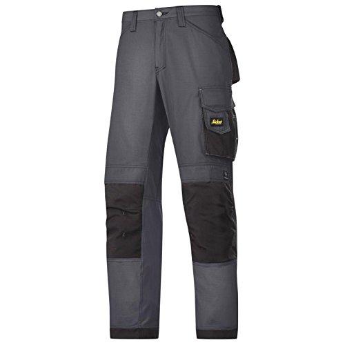 Snickers Workwear 3313 Pantalones, Stahlgrau-Schwarz, 104