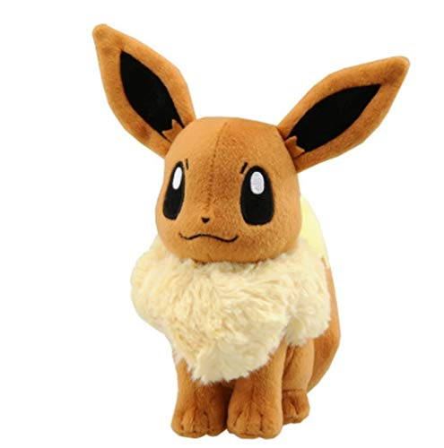 WPQL Evee Plush Toys, Cartoon Cute Soft Toys, Collecting Toys, Big Eyes Super Cute Dolls, Boys And Girls Gift, 30cm(Brown)