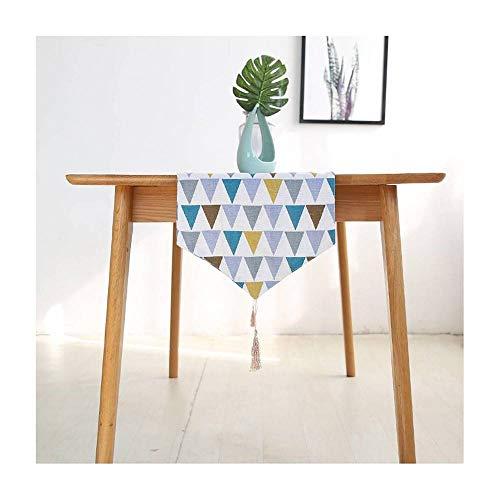 CUIZC Camino de mesa de algodón y lino, antideslizante, repele la suciedad, 30 x 220 cm