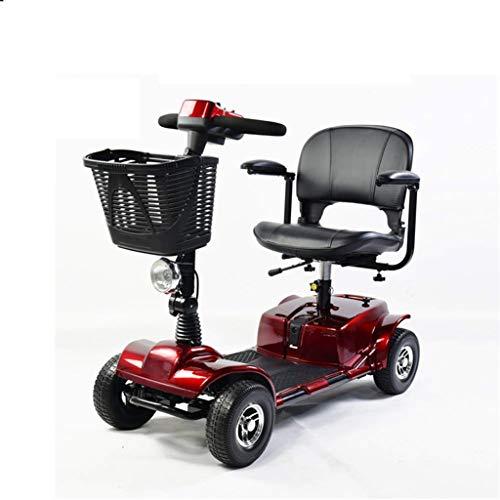 Elektrische reis-rolstoel voor volwassenen, 250 W, reis-vermogen, scooter, 12 Ah batterijpack, bevat Challenger Fornt Basket & LED-licht verrijdbaar 25 km, verstelbare hoogte rolstoelen