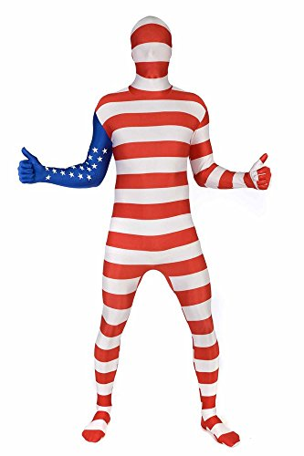 Morphsuits Men's USA Original Flag Fancy Dress Costume, XX-Large