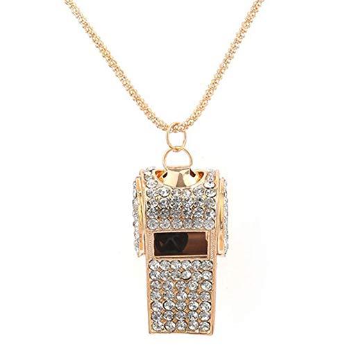 Valentinstagsgeschenk, lange Halskette, modische Damenpfeife, mit Strasssteinbesatz