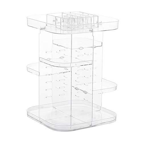 Storage Box Boîte de Rangement pour cosmétiques,Rotation 360 ° 7 Couches Réglable Présentoir de Rouge à lèvres cosmétique,pour Une Commode, Une Chambre, Salle de Bains