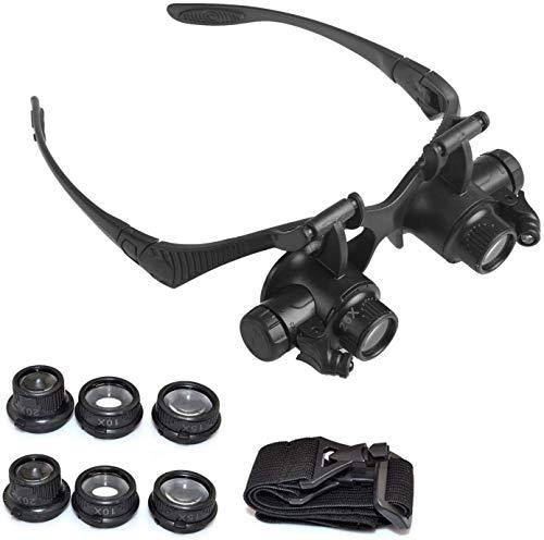 10X 15X 20X 25X head mount watch repair Miniature Engraving magnifier headband jewelers jewelry eyeglass loupe headset…