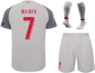 ZXAOYUAN Milner #7 Kids/Youths Third Soccer Jersey & Short & Socks Kit Grey