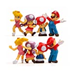 PQWE 8St 2-5Cm Super Mario Bros-Figurer Lot Jouet Mario Figurleksaker, Actionfigur Bullet Svamp Sköldpadda Kreativa Leksaker Modell Barns Gåvor