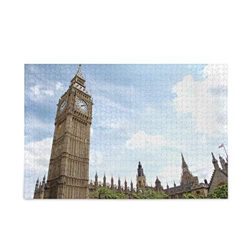 ISAOA 1000-teiliges Puzzle für Kinder und Erwachsene, London-Architektur-Puzzle mit Aufbewahrungstasche.