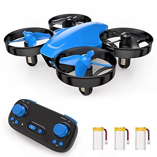 Mini Drone giocattolo telecomandato SP350, 21 minuti, autonomia con 3 batterie, modalità senza testa, mantenimento dell'altitudine, facile da usare, perfetto per bambini e principianti, blu