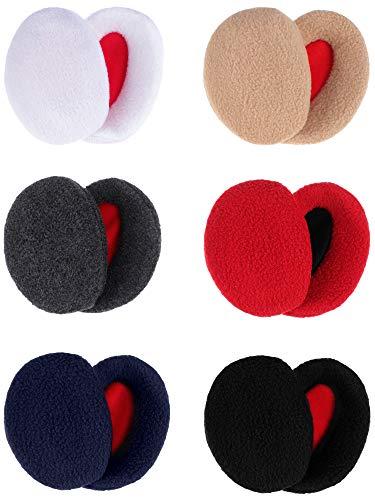 SATINIOR 6 Paar Winter Warme Ohrenwärmer Kapselgehörschützer für Männer und Frauen