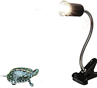 CTKcom UVA UVB Light Bulb Reptile Ceramic Heat Lamp Pet Heating Bulb Holder Clamp Lamp Fixture Heating Light Lamp For Reptiles,Aquarium Reptile Light Adjustable Habitat Lighting Stand,110V-130V(Black)