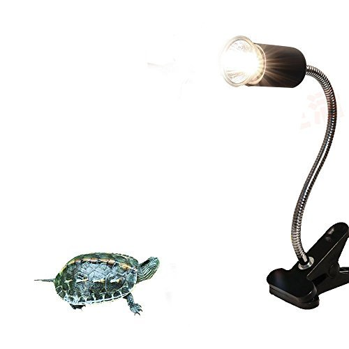 CTKcom UVA UVB Light Bulb Reptile Ceramic Heat Lamp Pet Heating Bulb Holder Clamp Lamp Fixture Heating Light Lamp For Reptiles,Aquarium Reptile Light Adjustable Habitat Lighting Stand,110V-130V(Black)