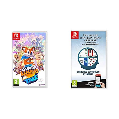 New Super Lucky's Tale pour Nintendo Switch & Programme d'Entraînement cérébral du Dr Kawashima pour Nintendo Switch
