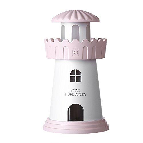 Junenoma Carino Mini-luchtbevochtiger, draagbaar, dubbele mistmodus, luchtbevochtiger voor schone luchtbevochtiger, licht praktische etherische olie, voor slaapkamer, auto, 150 ml