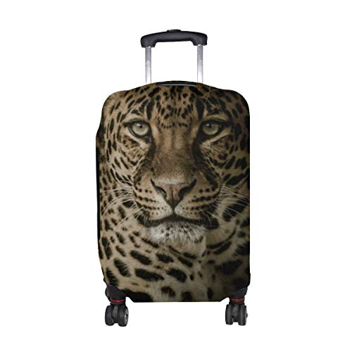 Leopard Predator Glance Pattern Print Travel Luggage Protector Baggage Suitcase Cover Fits 18-21 Inch Luggage