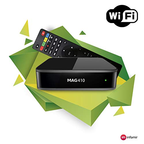 Genuine INFOMIR MAG 410 Android IPTV Set-TOP Box with WiFi Module Supports 4K and HEVC …
