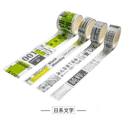 PMSMT 4 pz/lotto Serie Good Life Washi Tape FAI da te Decorativo Scrapbooking Planner Nastro adesivo Etichetta adesiva Nastro adesivo Cancelleria