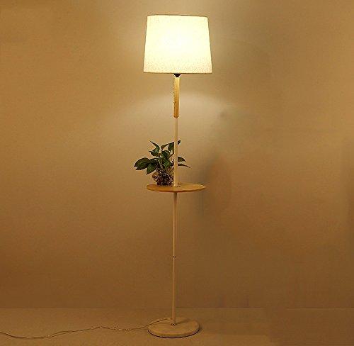 Lampe de sol en bois Lampe de chevet en bois massif individuel Lampe de chevet ronde Lampe de chevet en bois (Couleur : Blanc)
