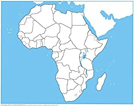 MONTESSORI OUTLET Africa Control Map - Unlabeled