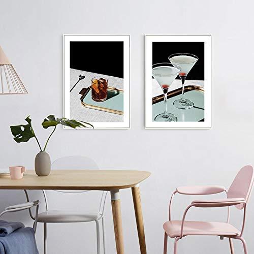 Dipinto su tela Bicchiere da cocktail Tazza Still Life Poster e stampa Immagini di arte della parete...