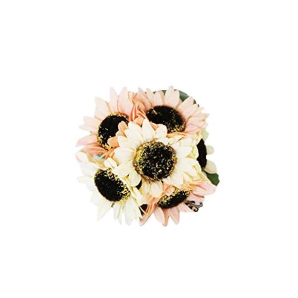 Longay Fake Sunflowers Silk Flowers Table Centerpieces Arrangements Home Indoor