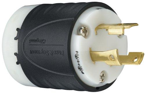 Legrand - Pass & Seymour L630PCCV3 Industrial-Strength NEMA L6-30P Turnlok Locking Plug 30A, 250 Volt | Plugs IP20 Suitability, 3-Wire, Black
