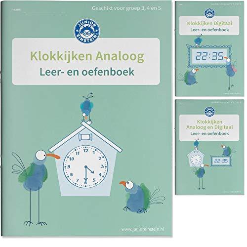 Klokkijken Oefenboeken Analoog en Digitaal: Leer- en Oefenboeken Set Deel 1, 2 en 3