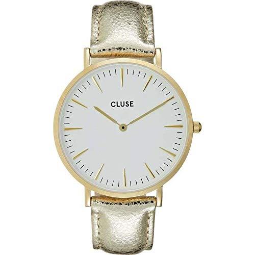 Cluse Unisex Erwachsene Digital Quarz Uhr mit Leder Armband CL18421