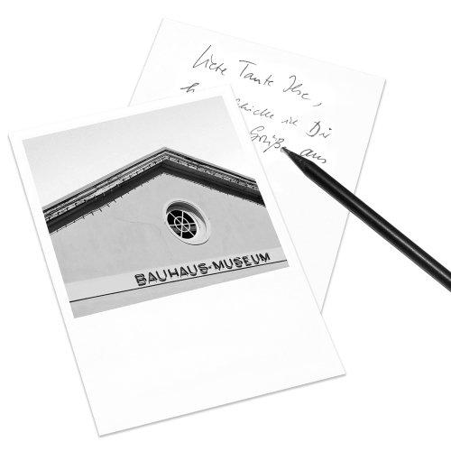 COGNOSCO Postkarte Weimar im Polaroid-Look - Motiv: Bauhaus-Museum
