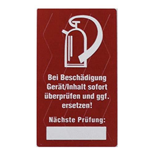 10x Siegel Feuerlöscher Prüfsiegel Kontrollsiegel