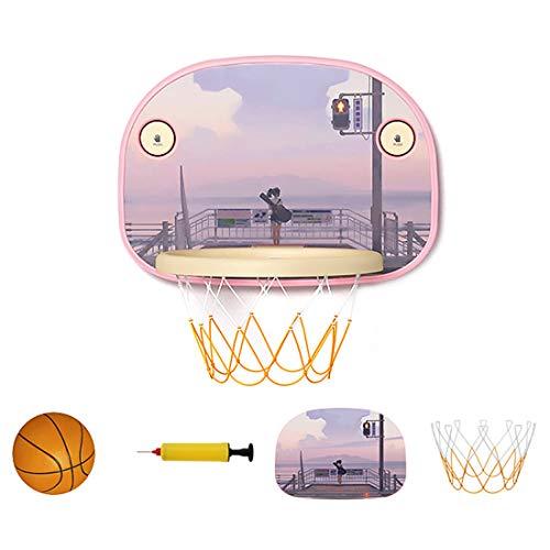 Teakpeak Basketball Korb für Kinder Indoor, Gesaugter Typ Basketballkorb Fahrbar Mini Basketballkorb fürs Zimmer mit Ball